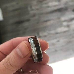 Other - Titanium, Redwood and Mother of Pearl wedding band